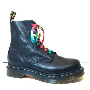 NEW Dr Martens Rainbow Pascal 8-Eye Leather Boots